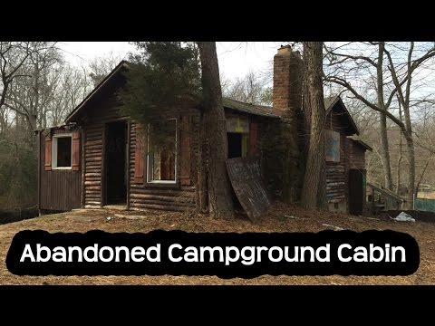 Abandoned Campground Log Cabin House New Jersey
