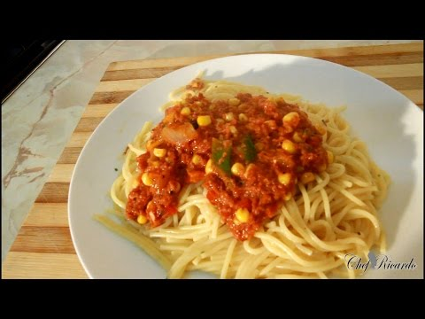 30-Minute Meals Recipe Corn Beef And Spaghetti At Home   Recipes By Chef Ricardo