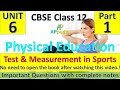 Test & Measurement in Sports | Unit - 7 | Physical Education | Complete Notes