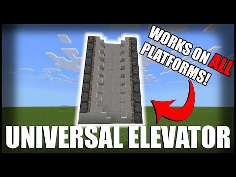 How to Make a Simple Elevator in Minecraft (Works on EVERY Platform)