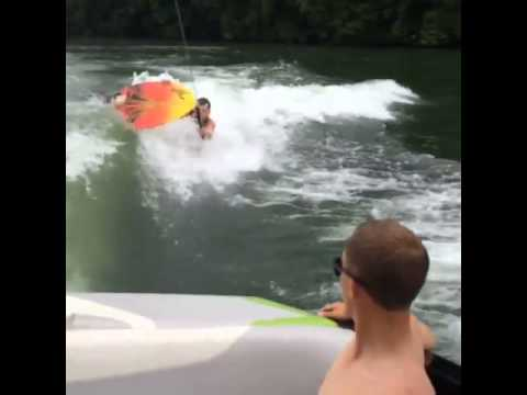 Getting up on a wakesurf board 101