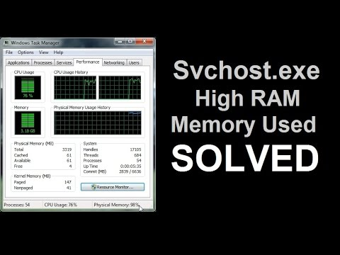 Svchost.exe using High Memory on windows 7 FIXED
