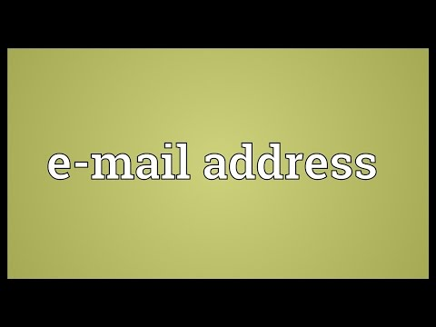 E-mail address Meaning