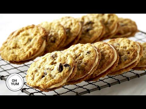 Oatmeal Raisin Sandwich Cookies | Oh Yum With Anna Olson