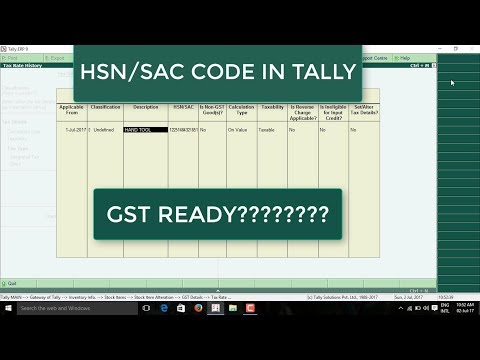 HOW TO ENTER HSN CODE IN TALLY ERP9. TALLY ME HSN CODE KAISE DALE.