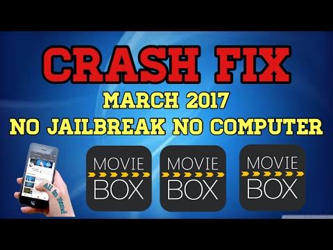 Movie Box Crash Fix 2017, no jailbreak no computer iOS 8/10.2.1 on iPhone iPad and iPod