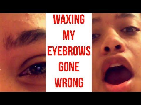 WAXING MY EYEBROWS (FAIL)  Tatyana Celeste ❤︎