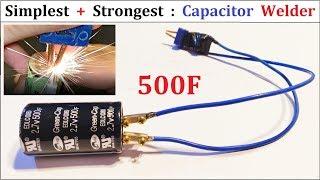 How To Make Battery Spot Welder Cheap Capacitor Welding Diy