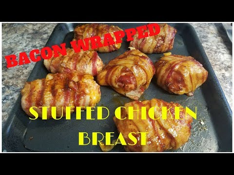 Bacon Wrapped Stuffed Chicken Breast on a Cabela's pellet Grill