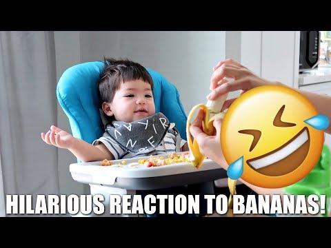 BABY'S HILARIOUS REACTION TO BANANAS! 😂
