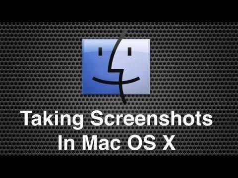 How To Take Screenshots In Mac OS X