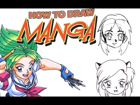 How to Draw Manga |Drawing Manga from a How to Book!