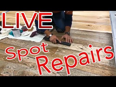 Spot Repairs LIVE on Wood Floors by Lenny Hall of NWFA with Scraper