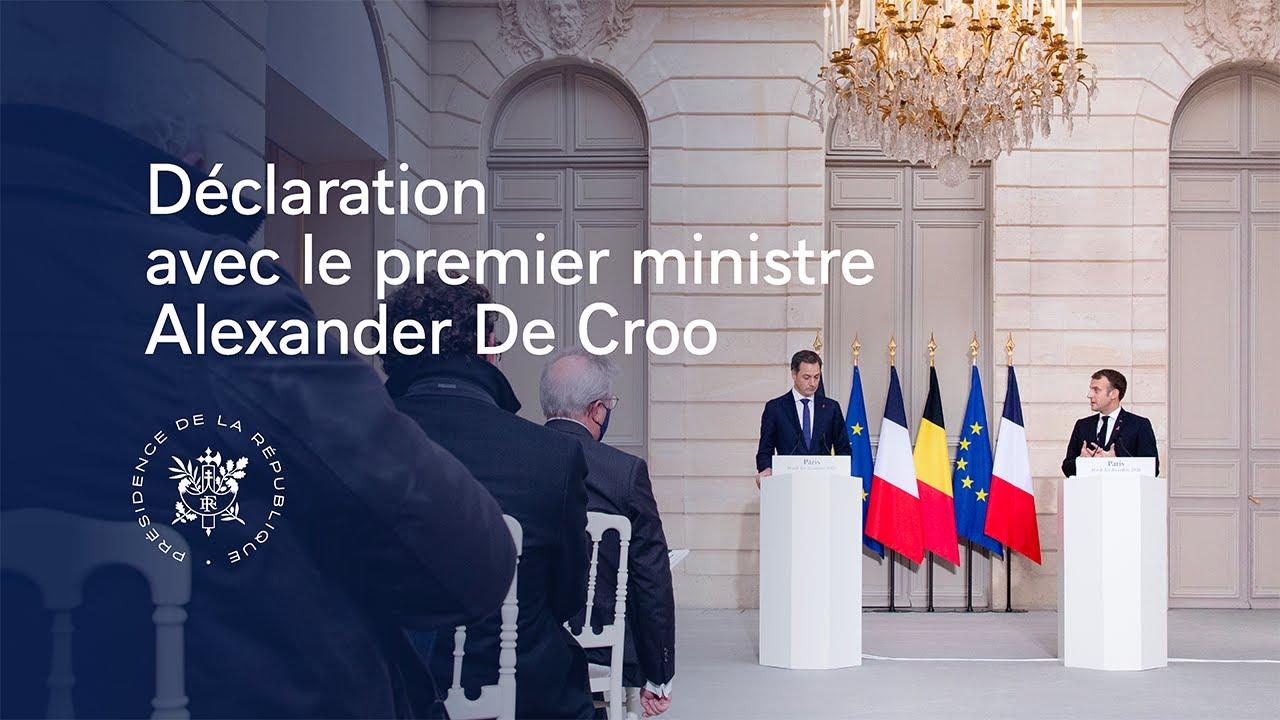 Déclaration conjointe avec Alexander De Croo, Premier ministre de Belgique