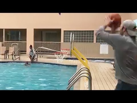 Air Ball Turns Into Amazing Trick Shot