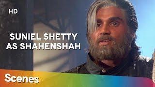 Suniel Shetty as Shehansah   Scenes    Waqt Hamara Hai   Superhit Bollywood Movie