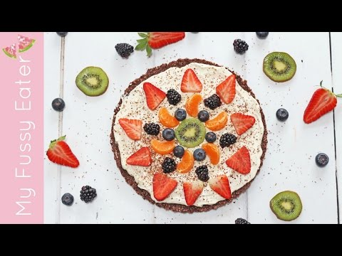 Healthy Chocolate Fruit Pizza | Mother's Day Dessert Recipe