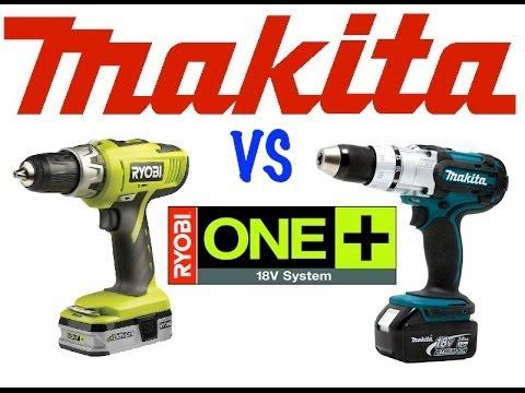 Ryobi 18v drill vs Makita 18v LXT drill
