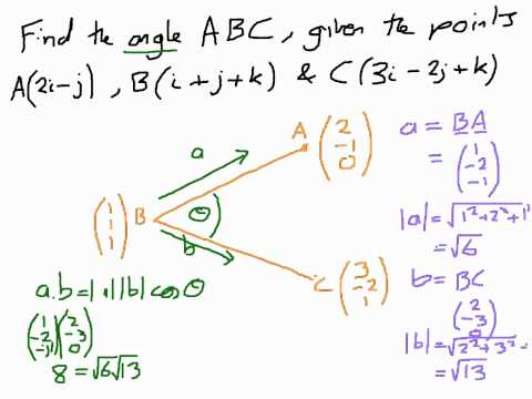 How to Find Angles Between Vectors