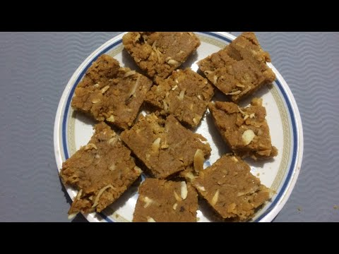 Gujarati Sweet Sukhdi Recipe#Gol Papdi#Gur Papdi Recipe#Gor Papdi#Wheat Flour Barfi