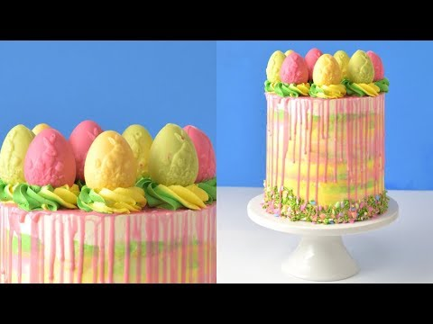 HOW TO MAKE EASTER/SPRING CHOCOLATE EGGS CAKE by HANIELA'S
