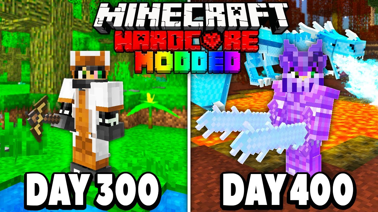 I Survived 400 Days in Modded Hardcore Minecraft.. GRAND FINALE! Here's What Happened..