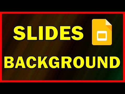 How to add a background image / picture in Google Slides - Tutorial