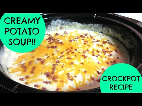 CROCK-POT LOADED POTATO SOUP - EASY & DELICIOUS!