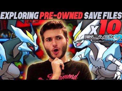 EXPLORING x10 PRE-OWNED SAVE FILES! | Pokemon Black & White 2