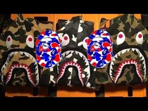 4a235e006580a5 Bape Shark Hoodie Unboxing