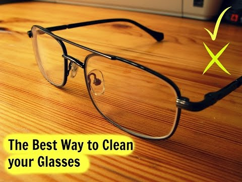 The Best way to clean the glasses (Simple Life Secret)