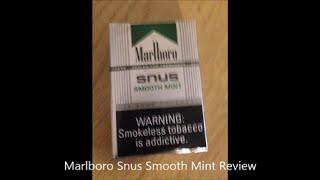 Marlboro Snus Smooth Mint Review