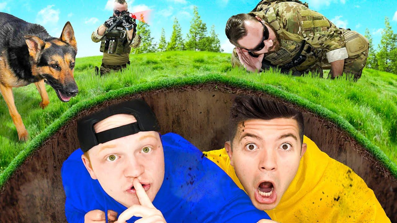 Hiding UNDERGROUND from A SWAT Team! Unspeakable vs Preston