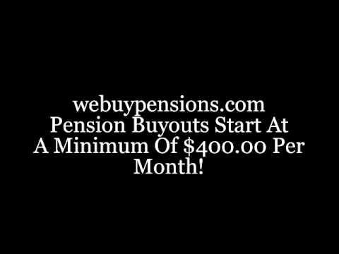 Lump Sum Pension Buy Out; lump sum cash settlement for pension