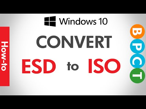 How to convert any ESD to ISO ?