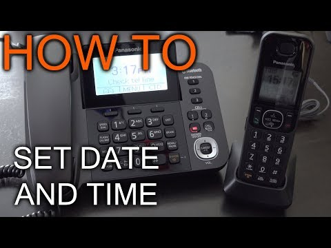 How to set Date and Time On Panasonic Phone