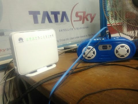 Huawei VDSL wifi Modem (Airtel V FiberNet Broadband Modem) Airtel vfibernet speed test