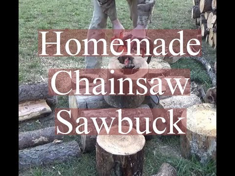 Simple Chain Saw SawBuck Using Logs
