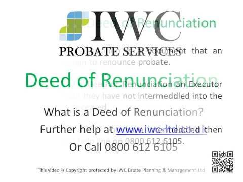 Deed of Renunciation