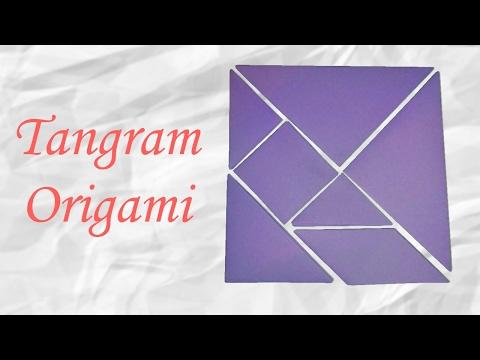 Origami : Tangram complet en papier !