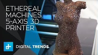 """Ethereal Machines """"Halo"""" 5-Axis 3D Printer at CES 2018"""