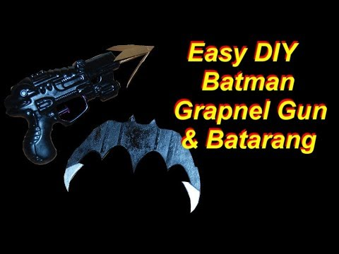 Batman Costume Tutorial - Grapnel Gun and Batarang