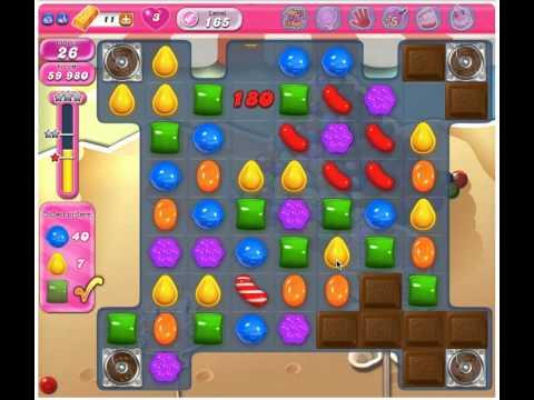 Candy Crush Saga Level 165 - 3 Stars No Boosters
