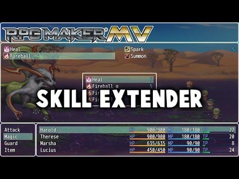 Skill Extender Plugin - RPG Maker MV