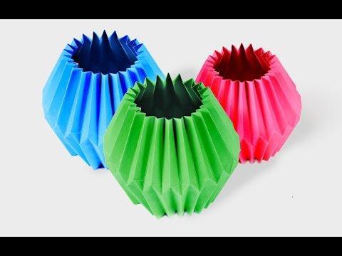 [Handmade Guides] - Make paper lamp - Origami