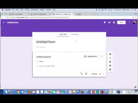 Google Forms - Collect email address and username