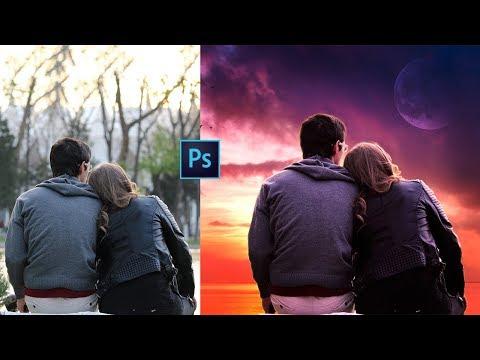 Photoshop Tutorial - Photo Manipulation | Change Background & Color Correction
