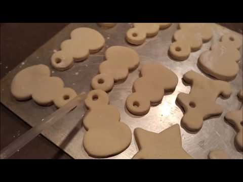 Large family makes salt dough ornaments