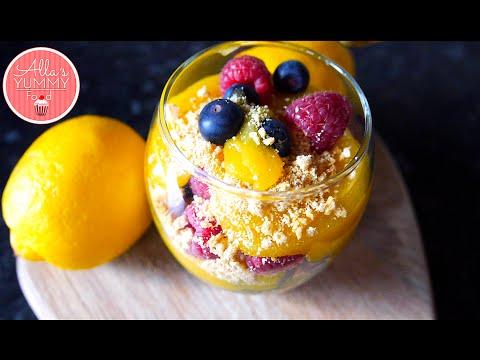 Lemon Curd Dessert Recipe | Лимонный Десерт с ягодами