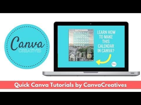 How to Create a Calendar in Canva